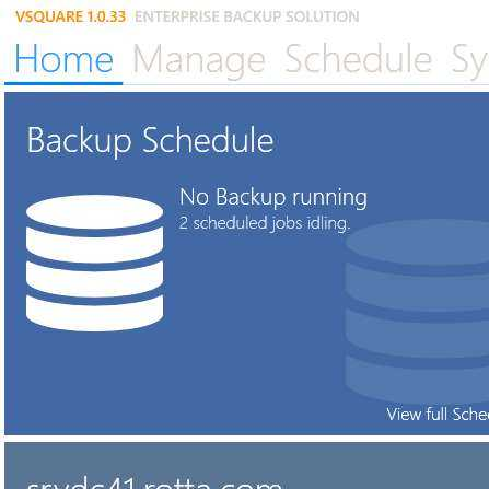 VMWare and Hyper-V backup screenshot 1